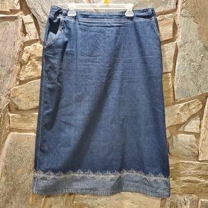 Crazy Line Denim Skirt sz 46